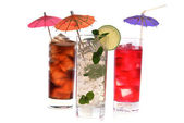 Cocktail in wineglasses — Stock Photo