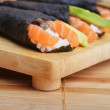 Fresh sushi rolls - Stock Photo