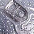 Wet aluminium can — Stockfoto