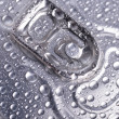 Wet aluminium can — Stock fotografie