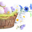 Basket of easter eggs — Stock Photo #22308107