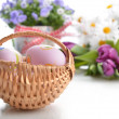 Basket of easter eggs — Stock Photo #22308205