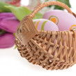 Basket of easter eggs — Stock Photo #22619451