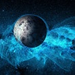 Two planets deep in space - Stock Photo