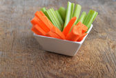Bowl of carrot and celery — Stock Photo
