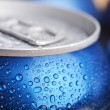 Stock Photo: Wet aluminium can