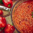 Hot chili con - Foto Stock