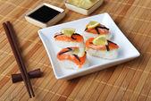 Sushi with salmon — Stock Photo