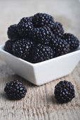 Blackberry in bowl — Stock Photo