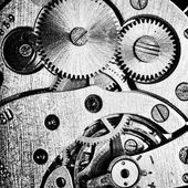 Orologio ingranaggi — Foto Stock