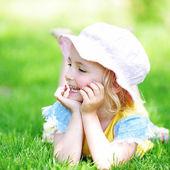 Girl in hat — Stock Photo