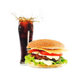 Hamburger with cutlet — Stock Photo