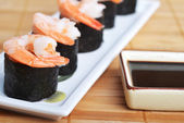Fresh sushi rolls — Stock Photo