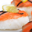 Sushi with salmon - Stock Photo