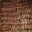 Rectangle from  brown saskcloth background — Stock Photo