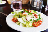 Vegetables and chicken meat — Stock Photo