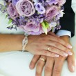 Bride and groom hands — Stock Photo #31458491