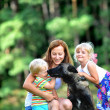 Children with dog — Stock Photo #33102767