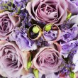 Bouquet of purple flowers — Photo