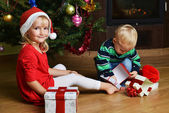 Boy with sister — Stock Photo