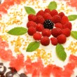 Cake with raspberry — Stock Photo #34313049