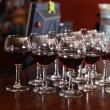 Red wine in glasses — Stock Photo