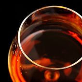 Brandy in glass — Stock Photo