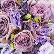 Bouquet of purple flowers — Foto Stock