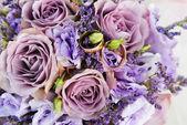 Bouquet of purple flowers — Stock Photo
