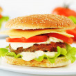 Hamburger with cutlet — Stock Photo #35306535