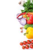 Vegetables on white background — Stock Photo