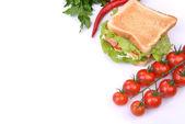 Sandwich met plantaardige — Stockfoto