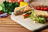 Tasty sandwich — Stock Photo