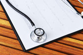 Stethoscope and printout — Stock Photo