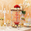 Stock Photo: Decoration of wedding table