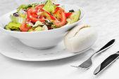 Salad of fresh vegetable — Stock Photo