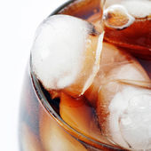 Glas with cola and ice — Stock Photo
