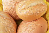 Buns with sesame — Stock Photo