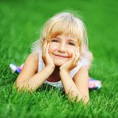девочка счастья — Стоковое фото