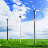 Wind turbines in the field — Stock Photo