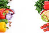 Panino con verdure — Foto Stock