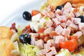 Fresh chopped ham salad — Stock Photo