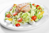 Salad with lettuce — Stock Photo