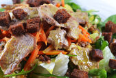 Salad of marinated pork — Stock Photo