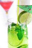 Cocktail into glass — Stock Photo