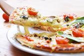 Baked italian  pizza — Stock Photo