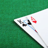 Black jack on green — Stock Photo