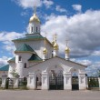 Stock Photo: Russicountry churh with golden cupolas