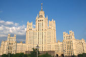 Stalinist Residential house on Kotelnicheskaya embankment in Moscow Russia facade — Stock Photo