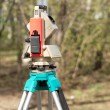 Electronic total station on tripod — Foto Stock